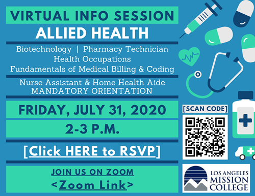 Virtual Info Session: Allied Health