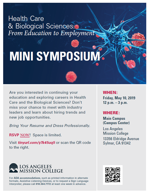 LAMC Health Care & Biological Sciences Mini Symposium