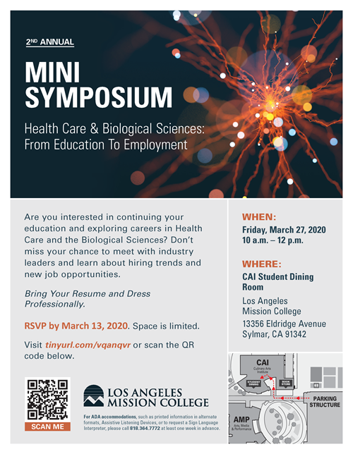 LAMC Health Care & Biological Sciences Mini Symposium 2020