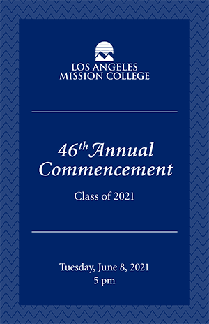 Program Cover - 46th Annual Commencement, Class of 2021, Tuesday, June 8, 2021, 5pm