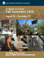 Image of Fall 2016 Class Schedule