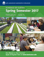 Image of Spring 2016 Class Schedule